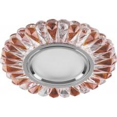 Светильник встраиваемый с белой LED подсветкой CD902 потолочный MR16 G5.3 прозрачный-коричневый