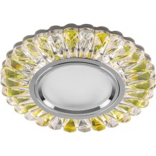 Светильник встраиваемый с белой LED подсветкой CD902 потолочный MR16 G5.3 прозрачный-желтый