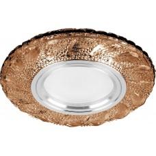 Светильник встраиваемый с белой LED подсветкой CD907 потолочный MR16 G5.3 коричневый