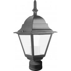 Светильник садово-парковый 4103 четырехгранный на столб 60W E27 230V, черный 11018