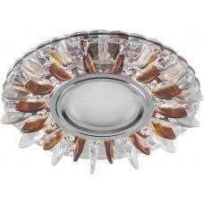 Светильник встраиваемый с белой LED подсветкой CD911 потолочный MR16 G5.3 прозрачный-коричневый