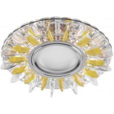 Светильник встраиваемый с белой LED подсветкой CD911 потолочный MR16 G5.3 прозрачный-желтый
