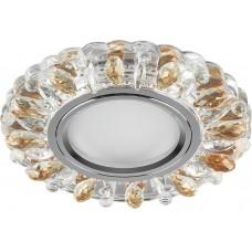 Светильник встраиваемый с белой LED подсветкой CD916 потолочный MR16 G5.3 прозрачный-коричневый