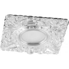 Светильник встраиваемый с белой LED подсветкой CD920 потолочный MR16 G5.3 прозрачный