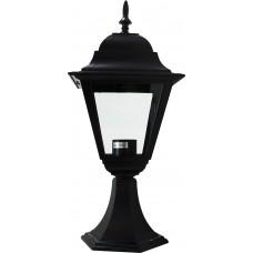 Светильник садово-парковый 4104 четырехгранный на постамент 60W E27 230V, черный 11020