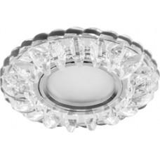 Светильник встраиваемый с белой LED подсветкой CD932 потолочный MR16 G5.3 прозрачный