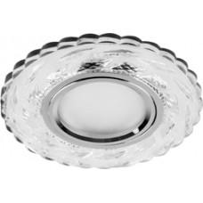 Светильник встраиваемый с белой LED подсветкой CD936 потолочный MR16 G5.3 прозрачный