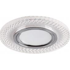 Светильник встраиваемый с белой LED подсветкой CD955 потолочный MR16 G5.3 прозрачный