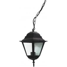 Светильник садово-парковый 4105 четырехгранный на цепочке 60W E27 230V, черный 11022