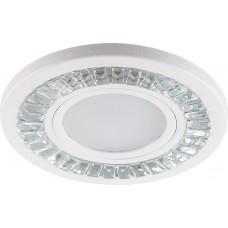 Светильник встраиваемый с LED подсветкой CD958 потолочный MR16 G5.3 прозрачный, белый