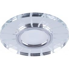 Светильник встраиваемый с LED подсветкой CD982 потолочный MR16 G5.3 прозрачный, хром