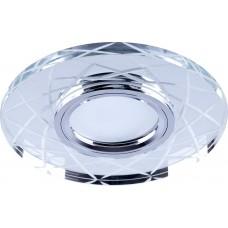 Светильник встраиваемый с LED подсветкой CD983 потолочный MR16 G5.3 прозрачный, хром