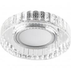 Светильник встраиваемый с LED подсветкой CD985 потолочный MR16 G5.3 прозрачный