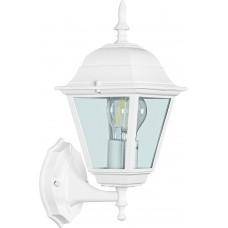 Светильник садово-парковый 4201 четырехгранный на стену вверх 100W E27 230V, белый 11023