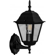 Светильник садово-парковый 4201 четырехгранный на стену вверх 100W E27 230V, черный 11024