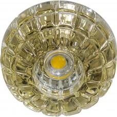 Светильник встраиваемый светодиодный JD87 потолочный 10W 3000K прозрачно-золотистый