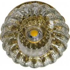 Светильник встраиваемый светодиодный JD88 потолочный 10W 3000K прозрачно-золотистый