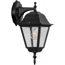 Светильник садово-парковый 4202 четырехгранный на стену вниз 100W E27 230V, черный 11026