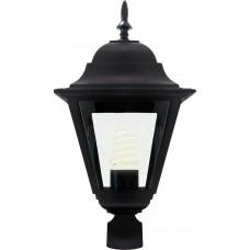 Светильник садово-парковый 4203 четырехгранный на столб 100W E27 230V, черный 11028