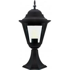 Светильник садово-парковый 4204 четырехгранный на постамент 100W E27 230V, черный 11030