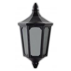 Светильник садово-парковый 4206 четырехгранный на стену вверх 60W E27 230V, черный 11542