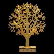 Деревянная световая фигура, 10LED, цвет свечения: теплый белый, 24*4,5*31 см, батарейки 2*AA, IP20, LT094