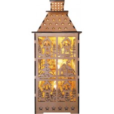 Деревянная световая фигура, 5LED, цвет свечения: теплый белый, 12*12,5*29,5 сm, батарейки 2*AA, IP20, LT091