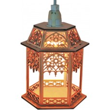 Деревянная световая фигура, 1 лампа накаливая, цвет свечения: теплый белый, 13,5*11,5*19, шнур 1,5 м, IP20, LT093