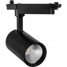 Светодиодный светильник AL102 трековый на шинопровод 8W 4000K 35 градусов черный 29646