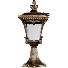 Светильник садово-парковый 2003M четырехгранный на постамент 100W E27 230V, черное золото 11257