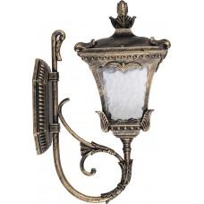 Светильник садово-парковый 6003QM четырехгранный на стену вверх 100W E27 230V, черное золото 11256