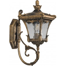 Светильник садово-парковый 6003QS четырехгранный на стену вверх 100W E27 230V, черное золото 11251