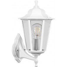 Светильник садово-парковый НБУ 06-60-001 вверх/вниз, 6-ти гранник 60W E27 230V, белый 32268