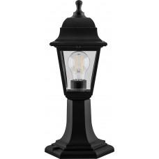 Светильник садово-парковый НТУ 04-60-001 на постамент, 4-х гранник 60W E27 230V, черный 32271