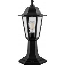 Светильник садово-парковый НТУ 06-60-001 на постамент, 6-ти гранник 60W E27 230V, черный 32273
