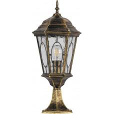 Светильник садово-парковый PL154 шестигранный на постамент 60W E27 230V, черное золото 11322