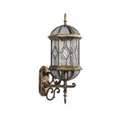 Светильник садово-парковый PL130 шестигранный на стену вверх 60W E27 230V, черное золото 11334