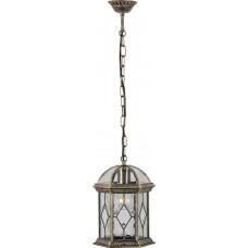 Светильник садово-парковый PL134 шестигранный на цепочке 60W E27 230V, черное золото 11337