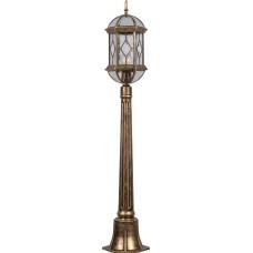 Светильник садово-парковый PL170 столб шестигранный 60W E27 230V, черное золото 11338