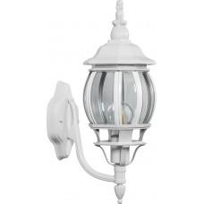 Светильник садово-парковый 8102 восьмигранный на стену вниз 100W E27 230V, белый 11097