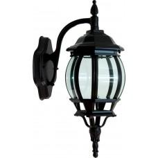 Светильник садово-парковый 8102 восьмигранный на стену вниз 100W E27 230V, черный 11098