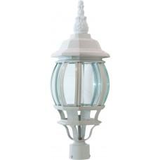 Светильник садово-парковый 8103 восьмигранный на столб 100W E27 230V, белый 11099