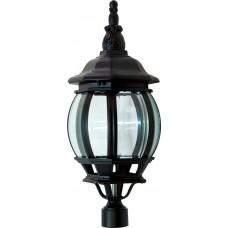 Светильник садово-парковый 8103 восьмигранный на столб 100W E27 230V, черный 11100
