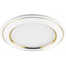 Светодиодный светильник AL650 встраиваемый 7W 4000K белый с золотом