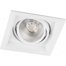 Светодиодный светильник AL201 карданный 1x12W 4000K 35 градусов, белый