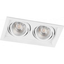 Светодиодный светильник AL202 карданный 2x12W 4000K 35 градусов, белый
