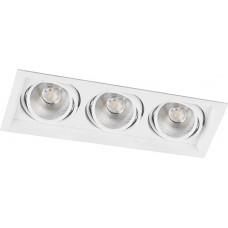 Светодиодный светильник AL203 карданный 3x12W 4000K 35 градусов, белый