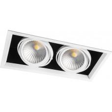 Светодиодный светильник AL212 карданный 2x30W 4000K 35 градусов, белый