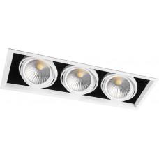 Светодиодный светильник AL213 карданный 3x30W 4000K 35 градусов, белый