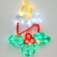 Световая фигура 4,5V 15 LED, белый цвет свечения, батарейки 3*АА IP20, 31*41,5 см, LT054
